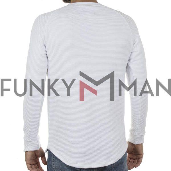Βαμβακερή Fashion Μπλούζα PONTEROSSO 19-2037 POINTED Λευκό