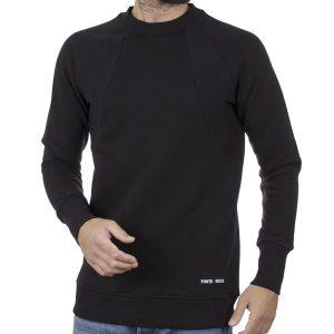Fashion Φούτερ PONTEROSSO 19-2039 RIB Μαύρο