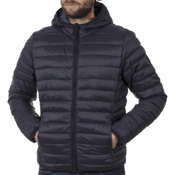Puffer Jacket με Κουκούλα BLEND 20708633 Μπλε