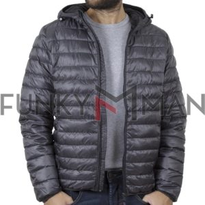 Puffer Jacket με Κουκούλα BLEND 20708633 Γκρι