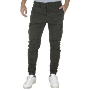 Cargo Παντελόνι με Λάστιχα Back2jeans T23 Army Χακί