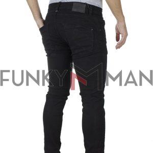 Τζιν Παντελόνι Slim Super Skiny Back2jeans T9 SS20 Μαύρο