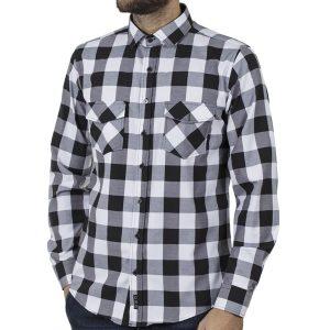 Καρό Πουκάμισο Slim Fit CND Shirts 5500-1 Λευκό