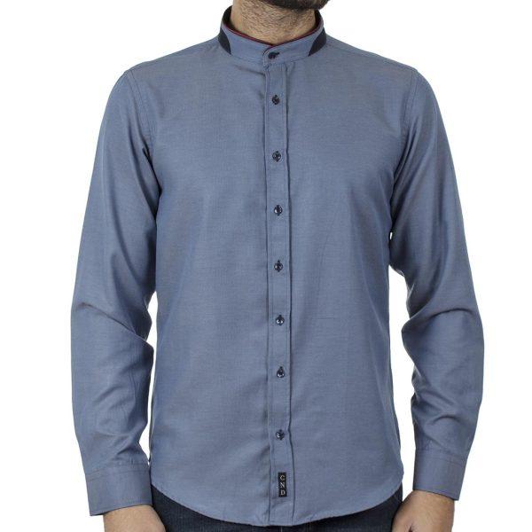 Μάο Πουκάμισο Slim Fit CND Shirts 5500-4 Indigo