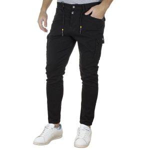 Τζιν Cargo Παντελόνι Slim COVER I0171 MARK SS20 Μαύρο
