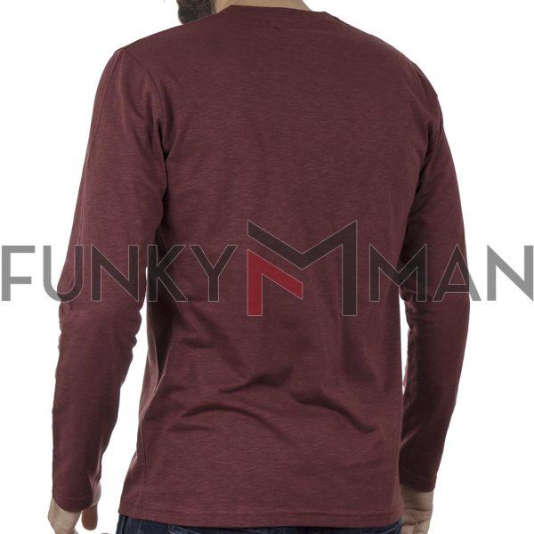 Μακρυμάνικο Μακό Cotton4all 20-816 Red Brick