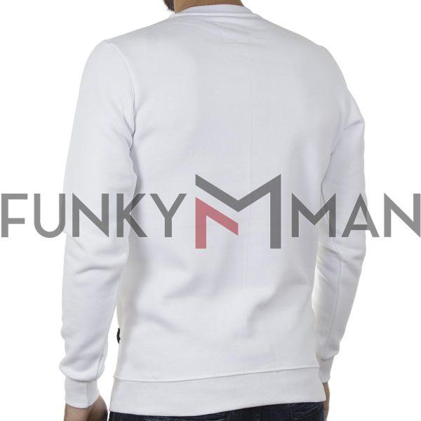 Φούτερ Μπλούζα Cotton4all 20-830 Λευκό