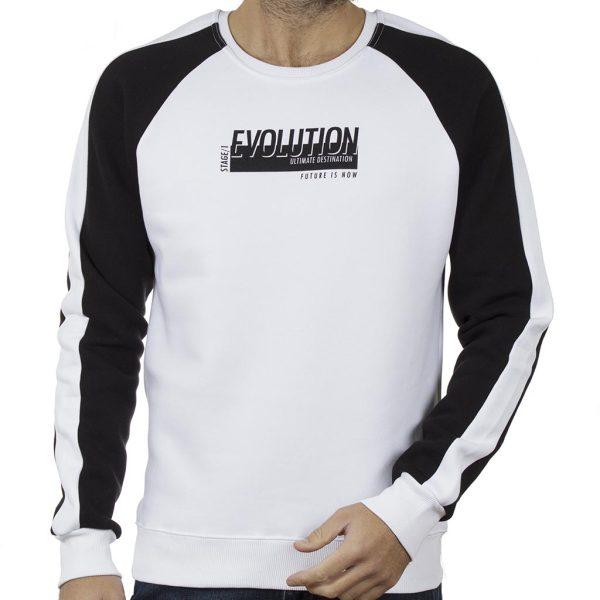 Φούτερ Μπλούζα Raglan Cotton4all 20-840 Λευκό