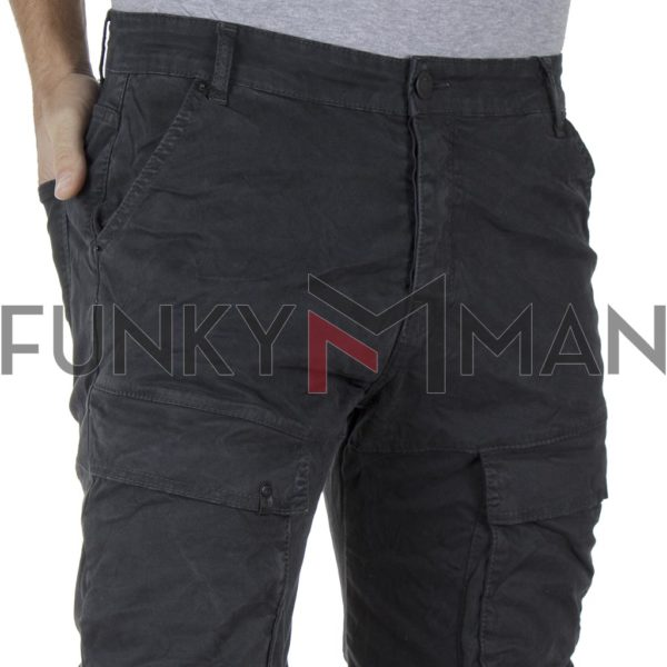 Cargo Παντελόνι DAMAGED R1C Army 3D fit Ανθρακί