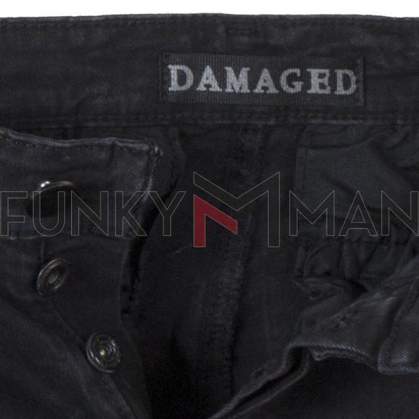 Jean Cargo Παντελόνι DAMAGED R33B Army 3D fit Μαύρο