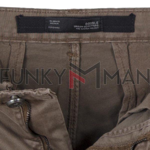 Παντελόνι Cargo με Λάστιχα Rib on Leg DOUBLE CCP-14 Camel