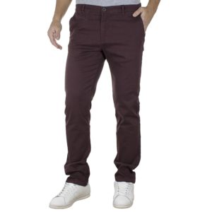 Παντελόνι Casual Chinos DOUBLE CP-220 Wine Red