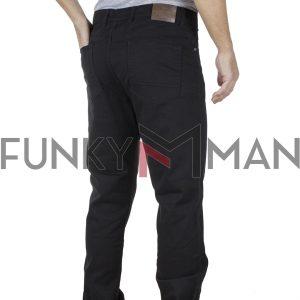 Πεντάτσεπο Casual Παντελόνι 5 Pockets DOUBLE FP-225 Μαύρο