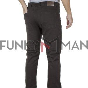 Πεντάτσεπο Casual Παντελόνι 5 Pockets DOUBLE FP-225 σκούρο Καφέ