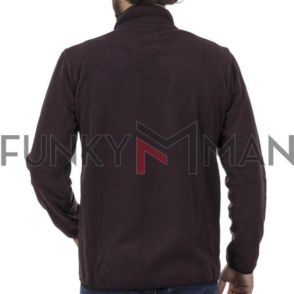 Fleece Ζακέτα DOUBLE MFT-1 Wine Red