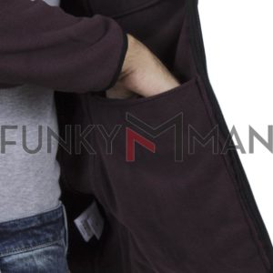 Fleece Ζακέτα DOUBLE MFT-1 Wine Red