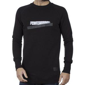 Fashion Μακρύ Φούτερ PONTEROSSO19-2042 BLURRY Μαύρο