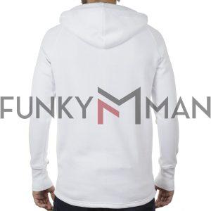 Μακρύ Fashion Hoodie PONTEROSSO 19-2046 PLAIN Λευκό