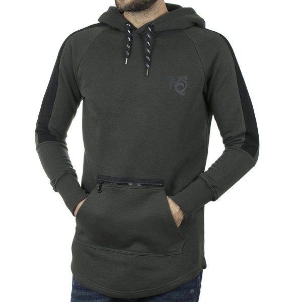 Μακρύ Fashion Hoodie PONTEROSSO 19-2047 ZIPED Pesto