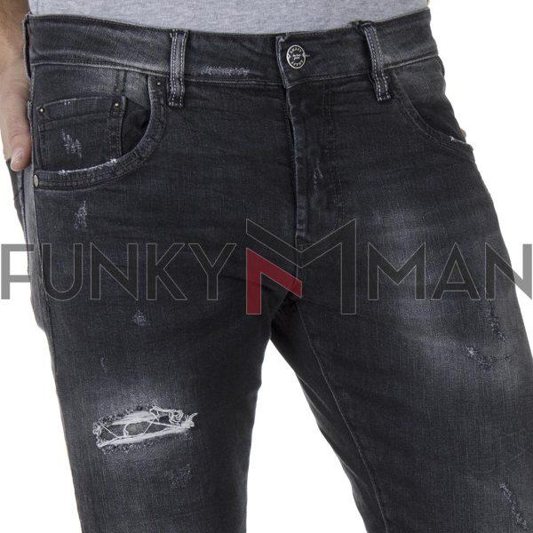 Τζιν Παντελόνι Slim Fit SHAFT Jeans 5699 SS20 Μαύρο