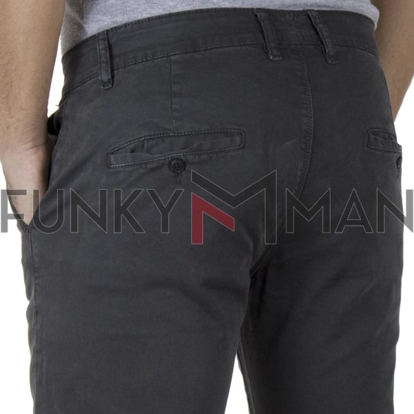 Chinos-Casual Παντελόνι SHAFT F5581 SS20 Ανθρακί