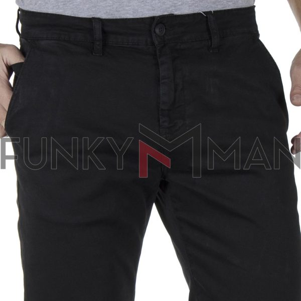 Chinos-Casual Παντελόνι SHAFT F5581 SS20 Μαύρο