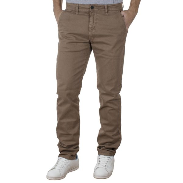 Chinos-Casual Παντελόνι SHAFT F5581 SS20 Καφέ