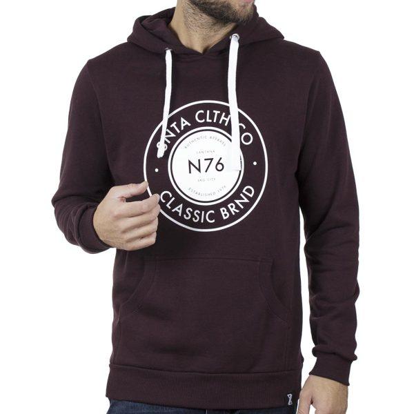 Μακρύ Fashion Φούτερ με Κουκούλα Hoodie SNTA SWB-3-4 Wine Red