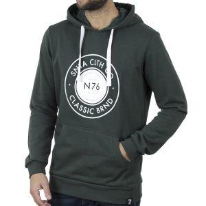 Μακρύ Fashion Φούτερ με Κουκούλα Hoodie SNTA SWB-3-4 Πράσινο