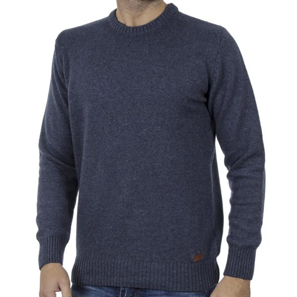 Πλεκτή Μπλούζα Πουλόβερ BATTERY 06S900192 Μπλε Denim
