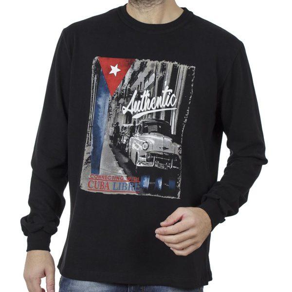 Μακρυμάνικη Μπλούζα CARAG 66-288-20N Μαύρο