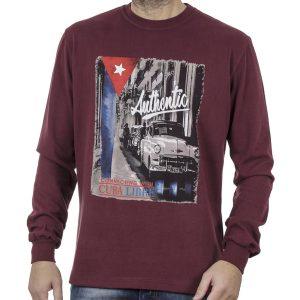 Μακρυμάνικη Μπλούζα CARAG 66-288-20N Μπορντό