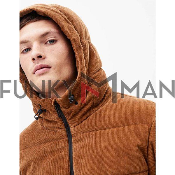 Κοτλέ Βαμβακερό Puffer Jacket CELIO PUHIGHVEL Camel