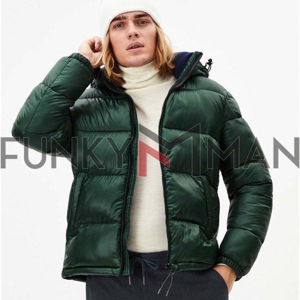 Φουσκωτό Μπουφάν Puffer Jacket CELIO PUSNOW Πράσινο
