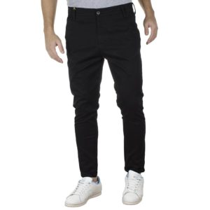Παντελόνι Casual Chinos COVER NEW BUTTER M0074 Μαύρο