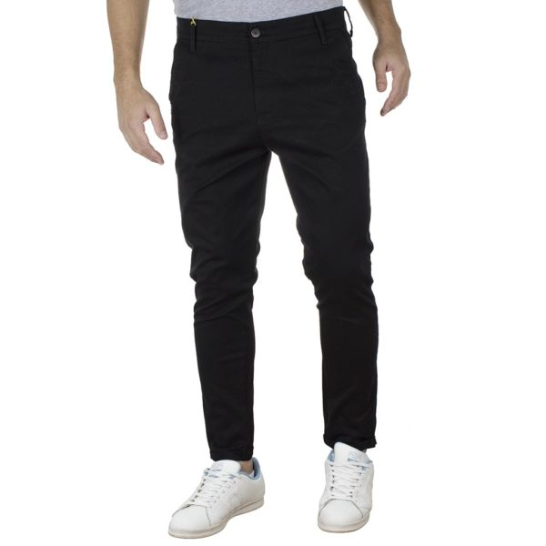 Παντελόνι Casual Chinos COVER NEW BUTTER M0074 Μαύρο