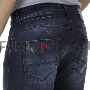 Τζιν Παντελόνι Super Slim Fit COVER TEDDY R5579 Μπλε