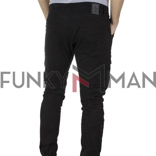 Cargo Παντελόνι με Λάστιχα DAMAGED R1C Army 3D fit Μαύρο
