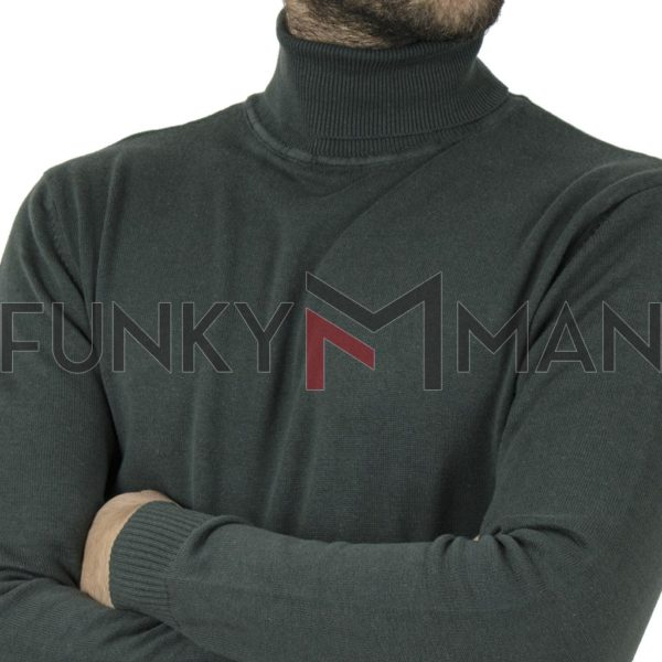 Ζιβάγκο Roll Neck Knit DOUBLE KNIT-39 Pesto
