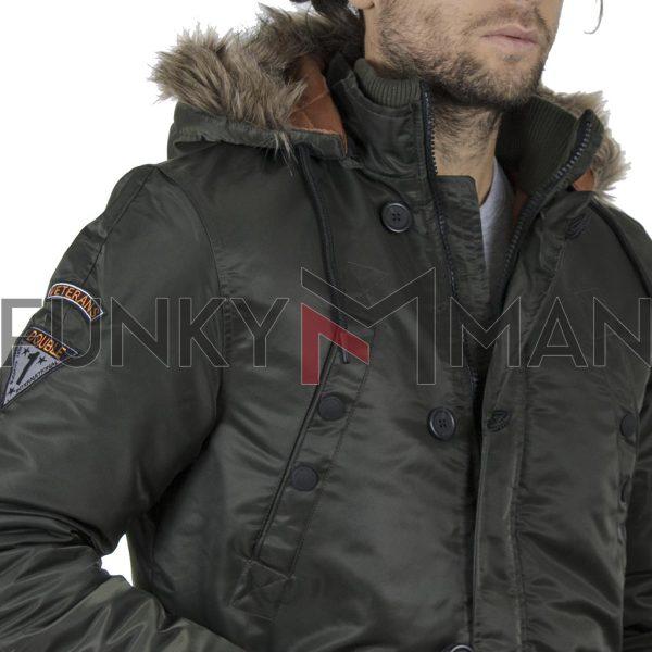 Parka Jacket DOUBLE MJK-136 Χακί