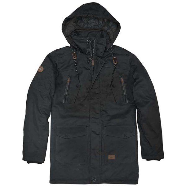 Parka Jacket DOUBLE MJK-137 Μαύρο