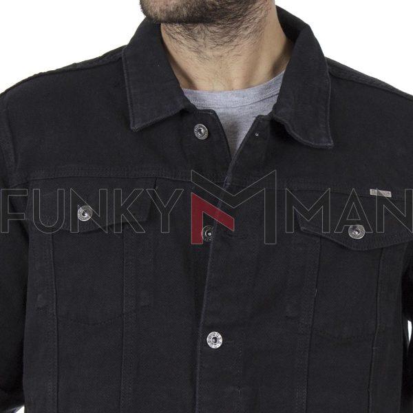 Τζιν Μπουφάν DUKE 130111 TRUCKER Μαύρο