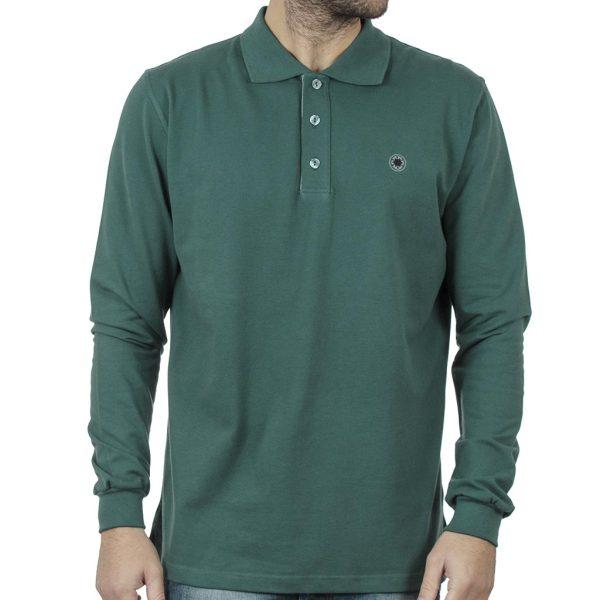 Μακρυμάνικη Μπλούζα με Γιακά POLO CARAG PIQUE 99-577-20N Πράσινο