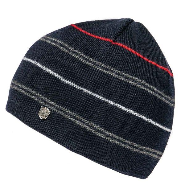 Πλεκτός Ριγέ Σκούφος Knitted Hat HEAVY TOOLS PAMIE Navy