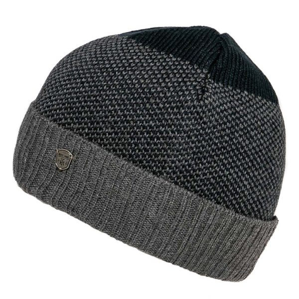 Πλεκτός Σκούφος Knitted Pattern Hat HEAVY TOOLS PANTER Navy