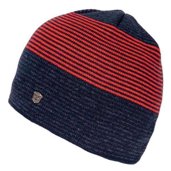 Πλεκτός Ριγέ Σκούφος Knitted Hat HEAVY TOOLS PENJEN Navy