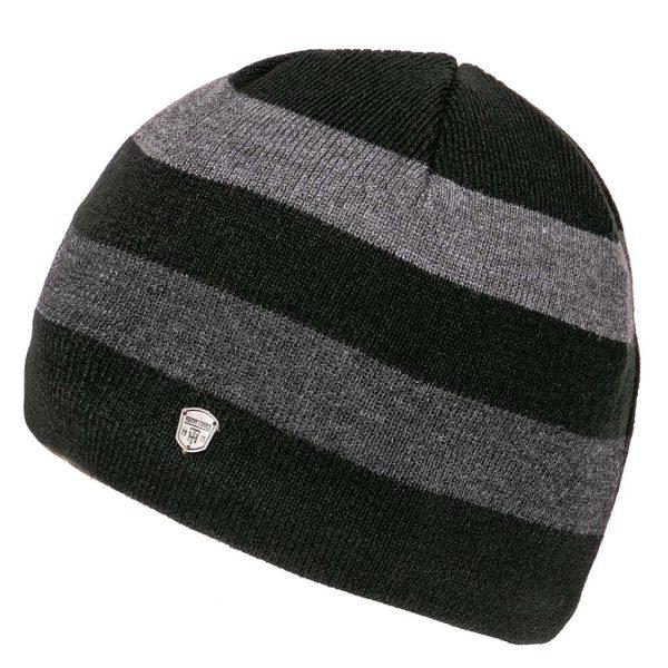Πλεκτός Ριγέ Σκούφος Knitted Hat HEAVY TOOLS PERDEN Μαύρο
