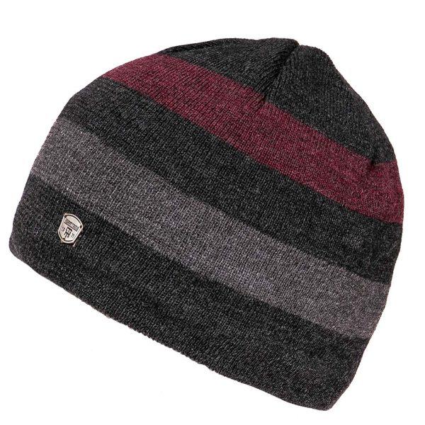 Πλεκτός Ριγέ Σκούφος Knitted Hat HEAVY TOOLS PERDEN Ανθρακί