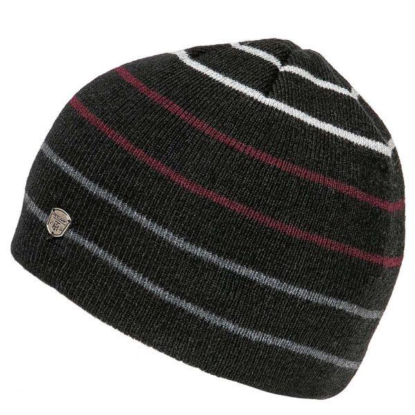 Πλεκτός Ριγέ Σκούφος Knitted Hat HEAVY TOOLS PERSEI Μαύρο