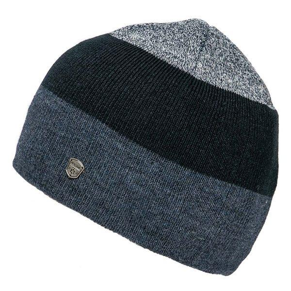 Πλεκτός Ριγέ Σκούφος Knitted Hat HEAVY PIRION PYRON Navy
